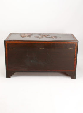 Chinese Carved Camphor Chest