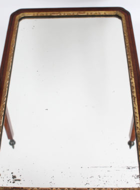 Small Georgian Mahogany Toilet Mirror