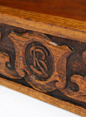 Arts Crafts Oak Wall Cupboard