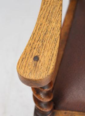 Pair Edwardian Oak Carvers