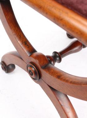 Victorian Mahogany X-Frame Stool