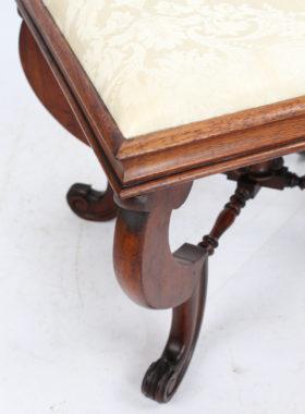 Victorian Walnut X-Frame Stool