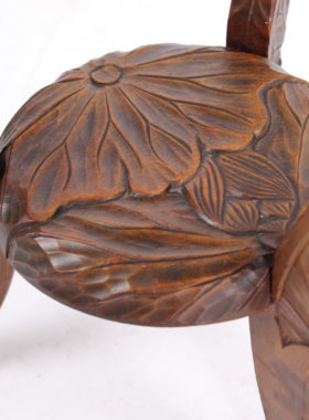 Liberty Arts Crafts Carved Small Table