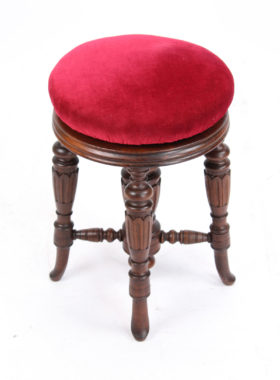 Victorian Rise and Fall Piano Stool