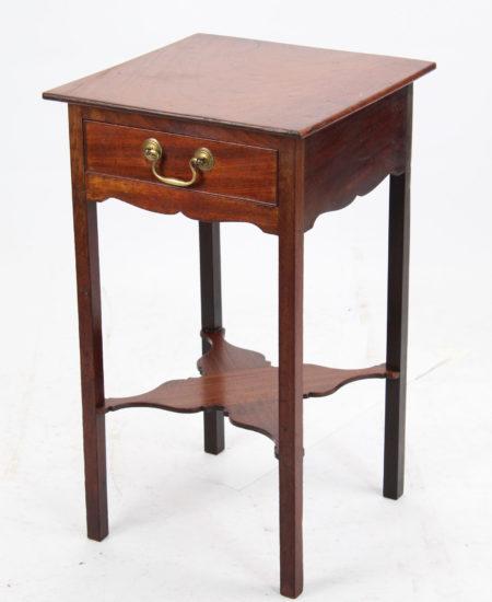 Small Georgian Mahogany Bedside Table
