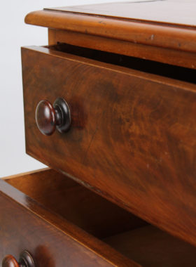 Small Victorian Mahogany Commode Chest of Drawers