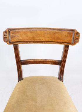 Pair Regency Mahogany Chairs