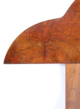 Art Deco Walnut Headboard