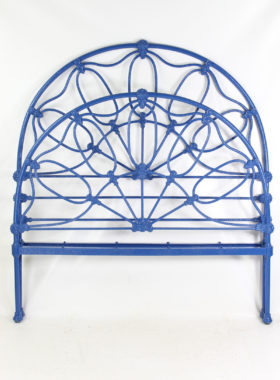 Antique Victorian All Iron Double Bed