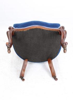 Victorian Walnut Slipper Chair