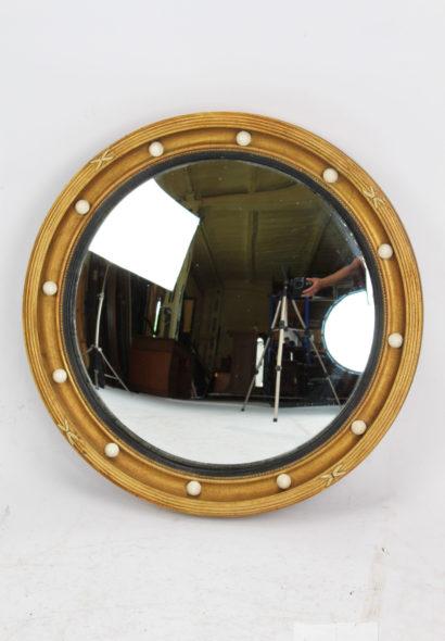 Edwardian Gilt Convex Mirror