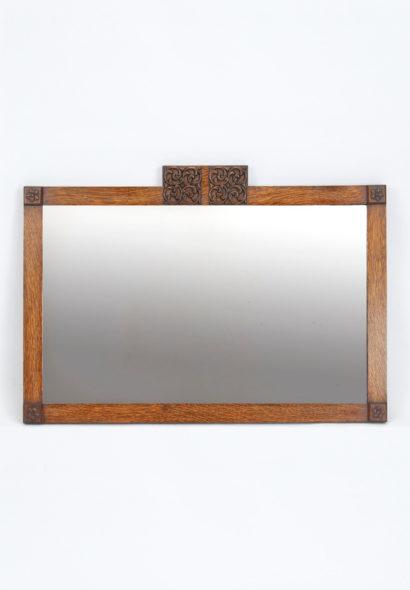 Art Deco Oak Mirror