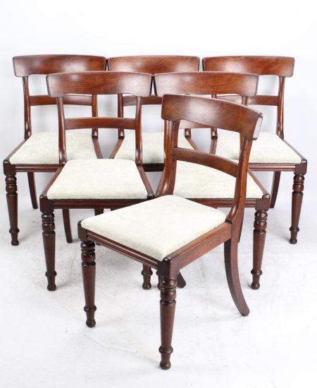 Set 6 Victorian Mahogany Dining Chairs