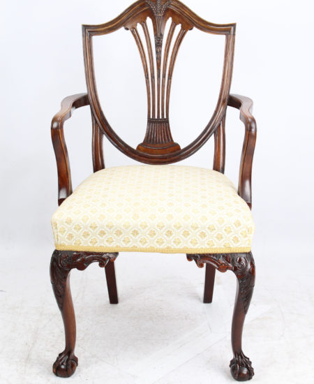 Edwardian Hepplewhite Mahogany Desk Chair