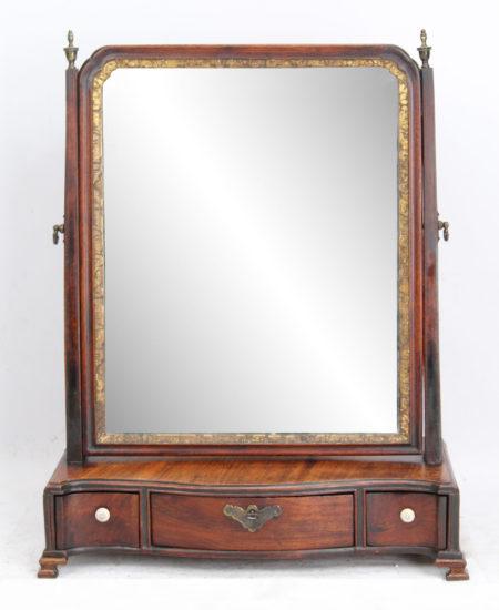 Georgian Mahogany Dressing Table Mirror