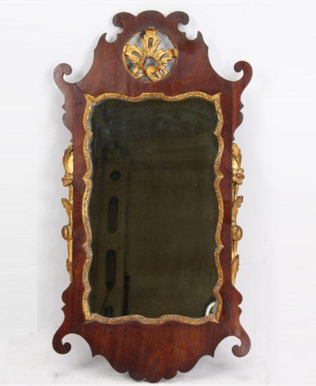 Georgian Mahogany Chippendale Fretwork Mirror