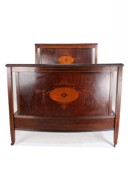 Antique Mahogany Inlaid Double Bed