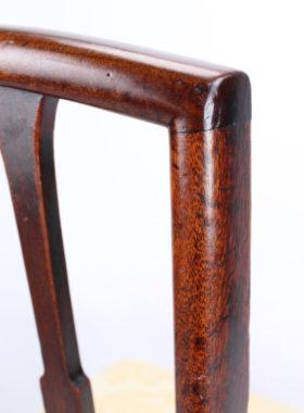Pair Georgian Mahogany Side Chairs
