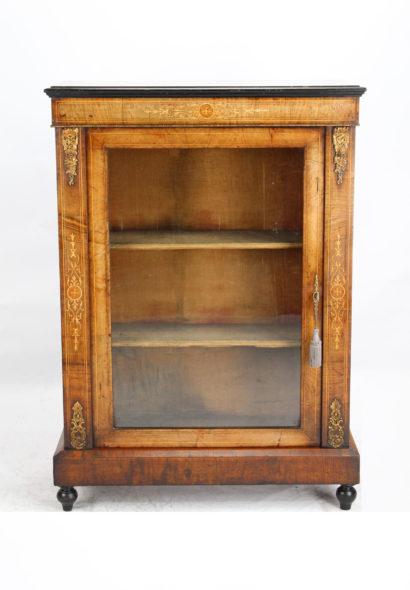 Victorian Walnut Pier Cabinet Bookcase