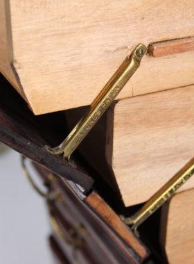 Tall Edwardian Mahogany Music Chest