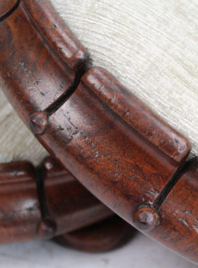 Pair Victorian Mahogany Footstools