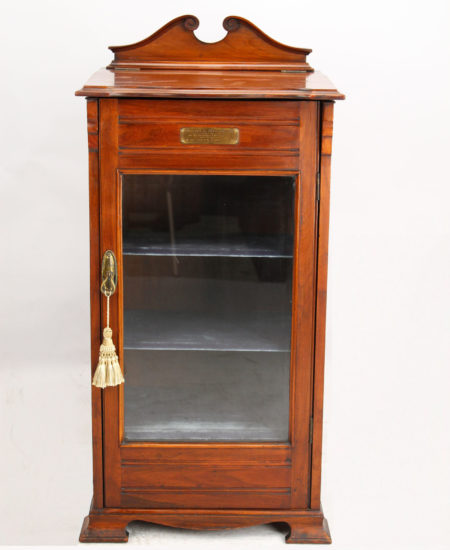 Edwardian Walnut Music Cabinet Dated 1910