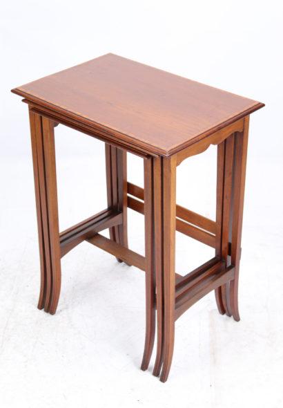 Tall Edwardian Inlaid Mahogany Nest of Tables