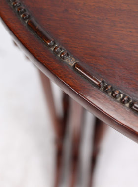 Antique Nest of 3 Mahogany Tables Manner of Gillows