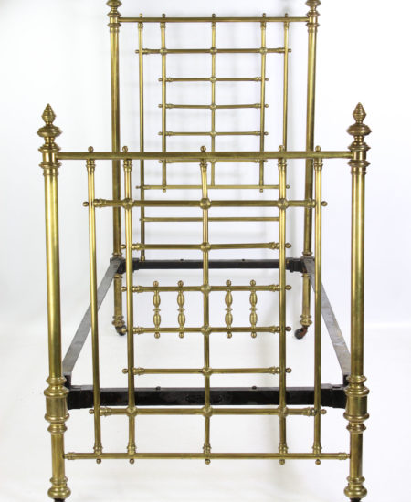 Antique Brass Single Bed JAS Shoolbred