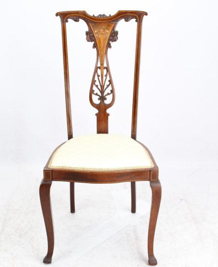 Edwardian Inlaid Mahogany Dressing Table Chair