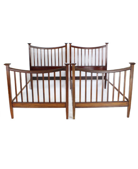 Pair Large Single Arts and Crafts Beds