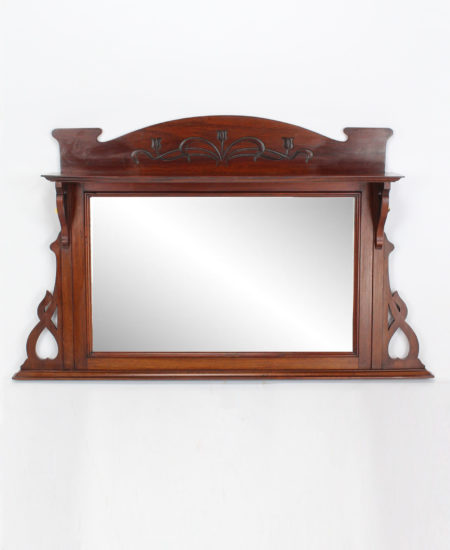 Arts and Crafts Overmantle Mirror